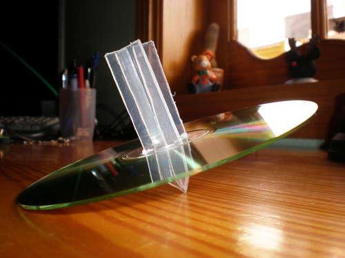 peonza hecha con un CD