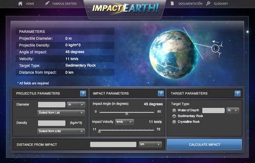 simulador impacto de asteroides