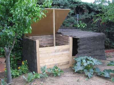 compostador casero con palets