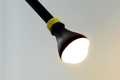 detalle lampara de PVC