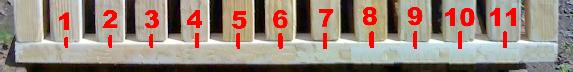Detalle de la rejilla incluidora
