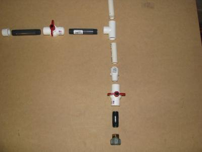 esquema del montaje de la pistola de agua casera