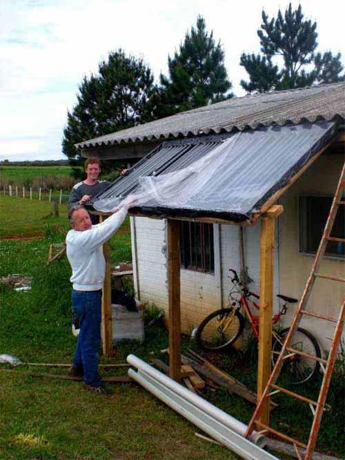 como instalar un calentador de agua solar