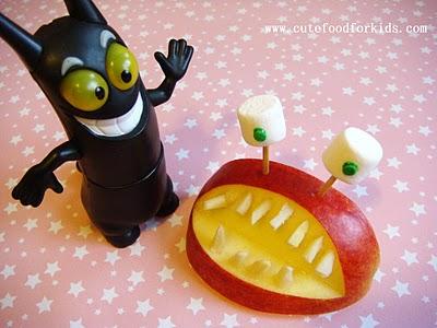 manzana monstruo para almorzar