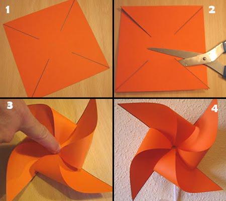como hacer un molinillo de viento de papel