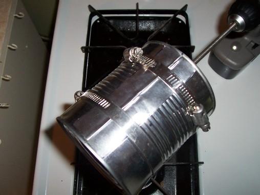 tostador de aluminio casero