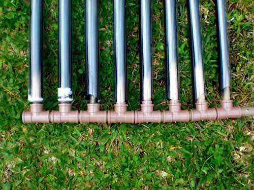 detalle tubos calentadores casero