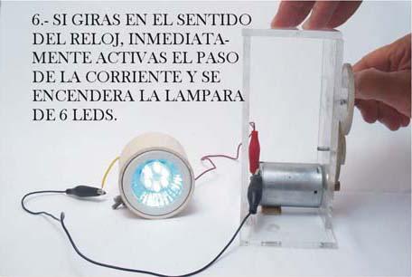 Como hacer un mini generador de corriente continua.?