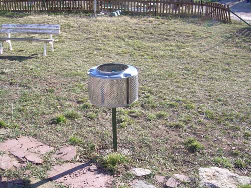 Papelera con tambor de lavadora