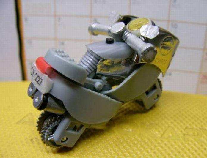 Como hacer una moto con dos encendedores