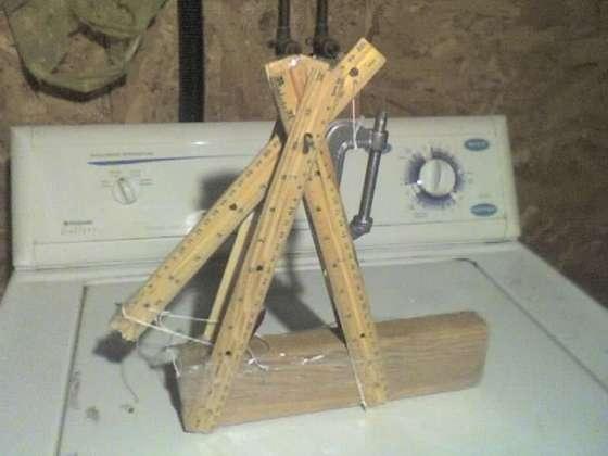 catapulta trebuchet casera