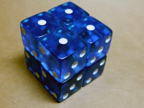 Cubo Rubik 2x2 con dados