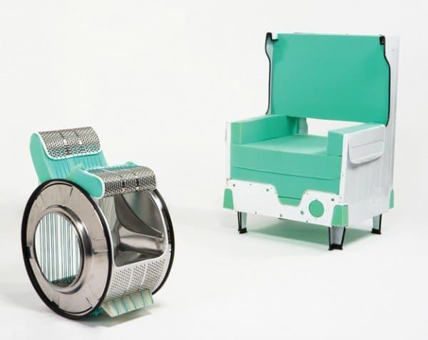 como hacer sillas reciclando lavadoras