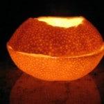 Lámpara ovela hecho como una naranja o candil si prefieres