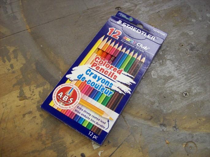 Caja de lápices de madera para colorear