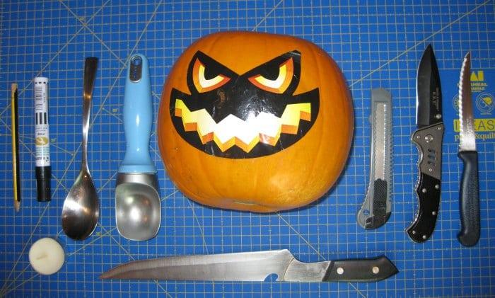 Herramientas para hacer una calabaza de Halloween