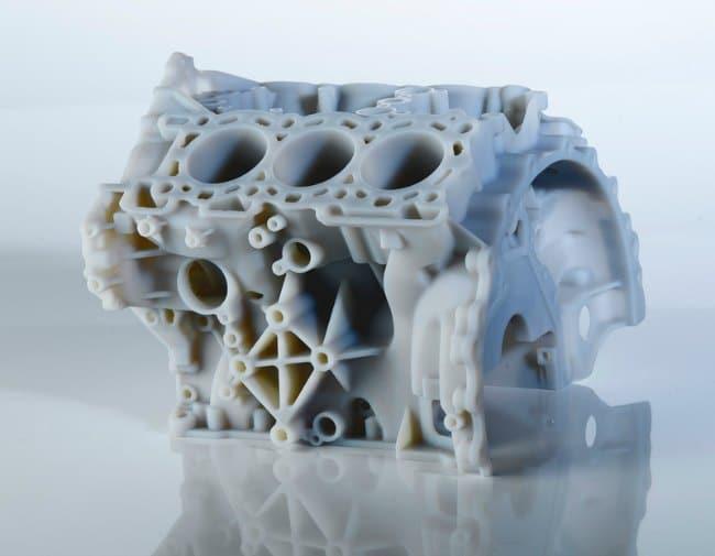 Cuerpo de un motor impreso en 3D