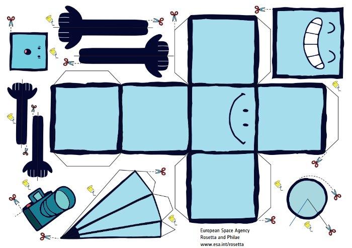 Modelo Rosetta y Philae papercraft
