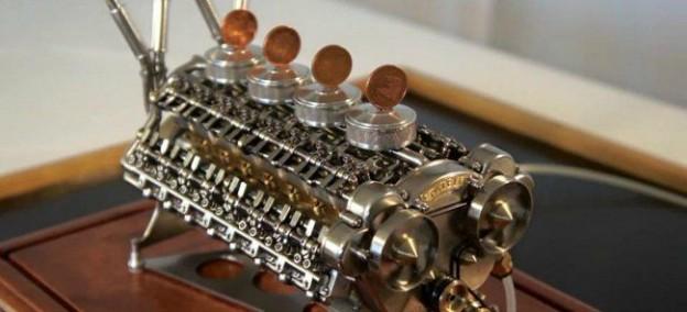 Motor de 32 cilindros de aire comprimido de Patelo, mecánico naval