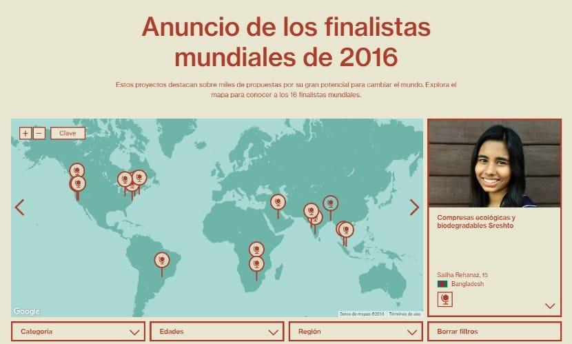 finalistas mundiales de la feria de ciencia de Google , google Science Fair 2016