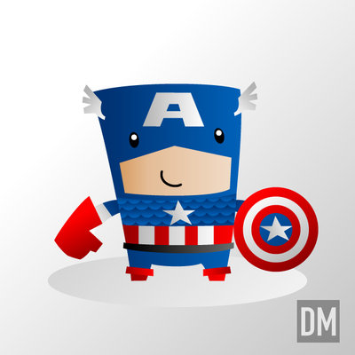 ilustracion capitan america