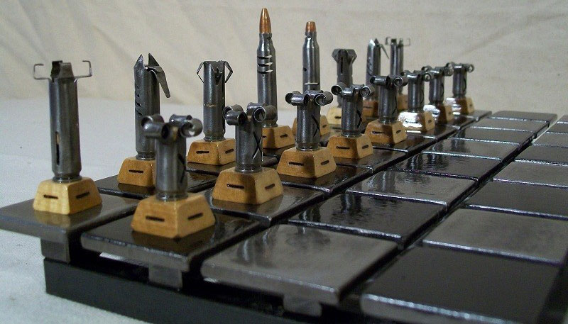 ajedrez hecho con balas