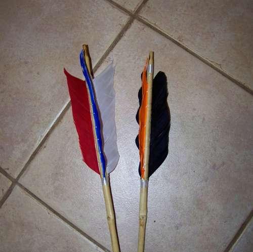 como hacer flechas de bambu tradicionales