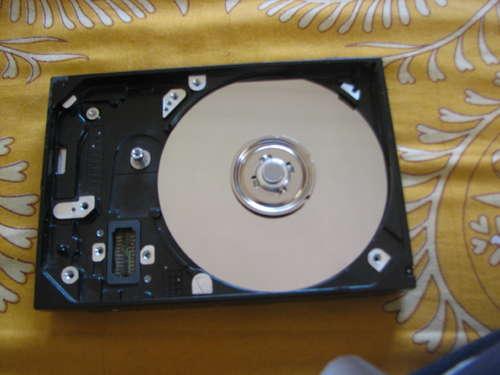 disco duro preparado para hacer una lijadora