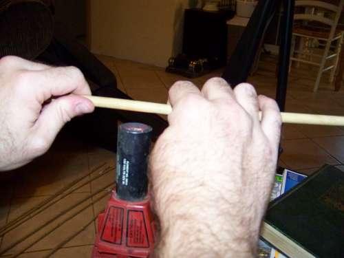 enderezar cañas de bambu