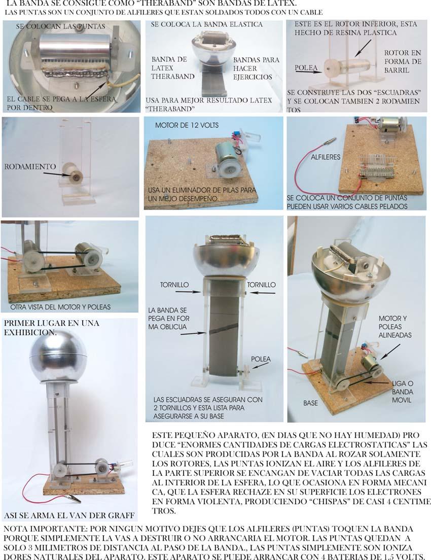 Como Construir Un Generador De Van Der Graaff Ikkaro