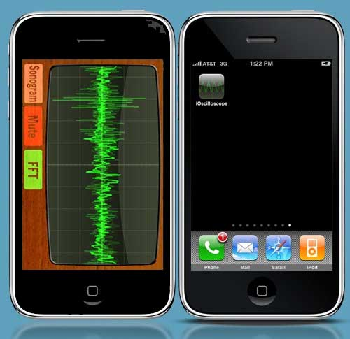ioscilloscope, osciloscopio de audio par iphone