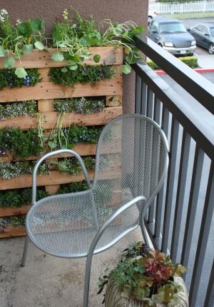 jardin vertical casero para el balcon