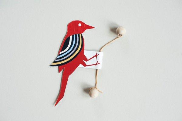 pajaro carpintero oscilante de papel