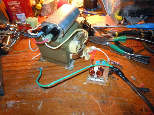 transformador condensador pistola herf