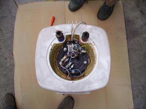 Desmontando un termo ikkaro for Termo edesa 50 litros