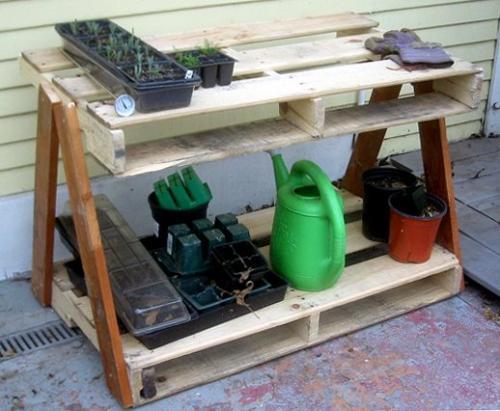 mesa palet jardin