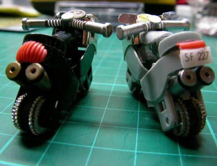 como hacer motos con dos mecheros