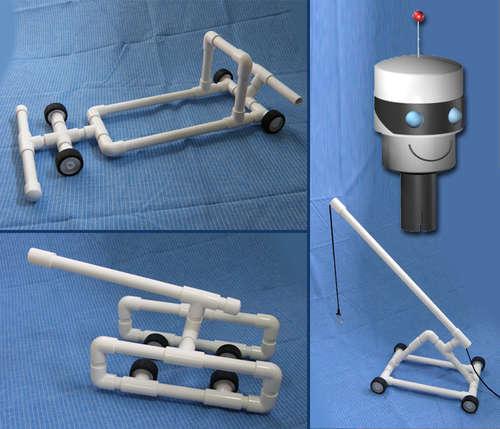 juguetes hechos con tuberías de PVC