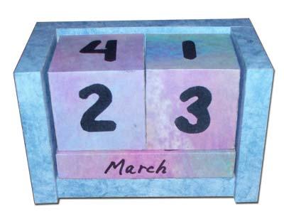 como hacer un calendario perpetuo