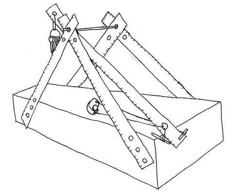 como hacer una catapulta trebuchet casera
