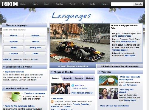 cursos de idiomas gratis por la BBC