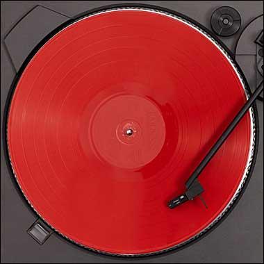 probando el disco de vinilo copiado