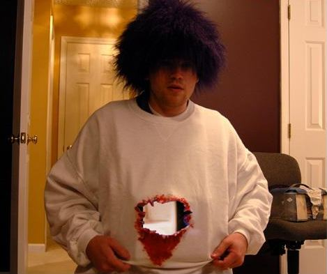 disfraz atravesado para halloween