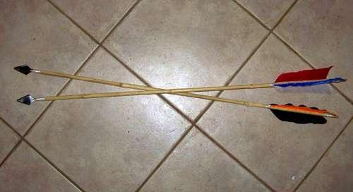 como hacer flechas de bambu caseras