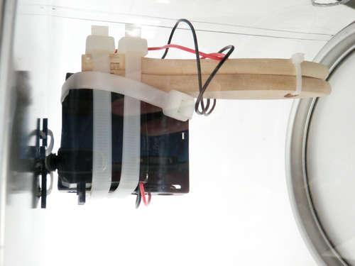 servo en robot barreller