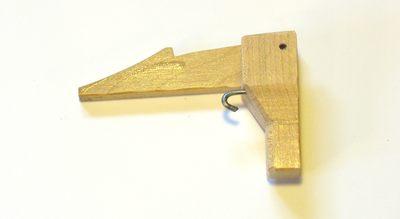 gatillo pistola jenga de madera