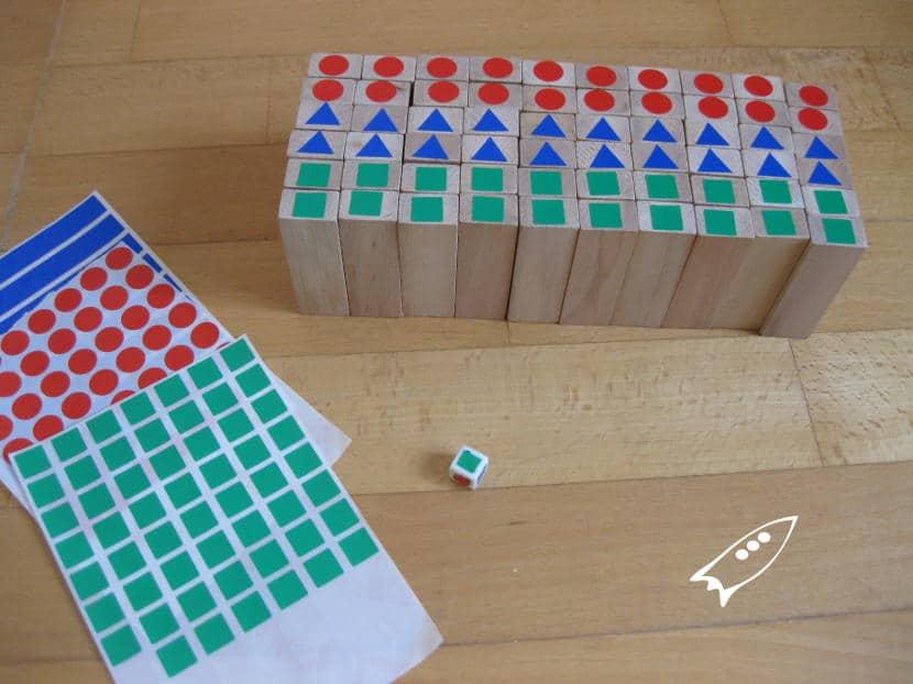 Como hacer un Jenga de colores con Gomets