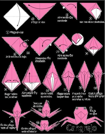 Como hacer un cangrejo de papel paprioflexia u origami