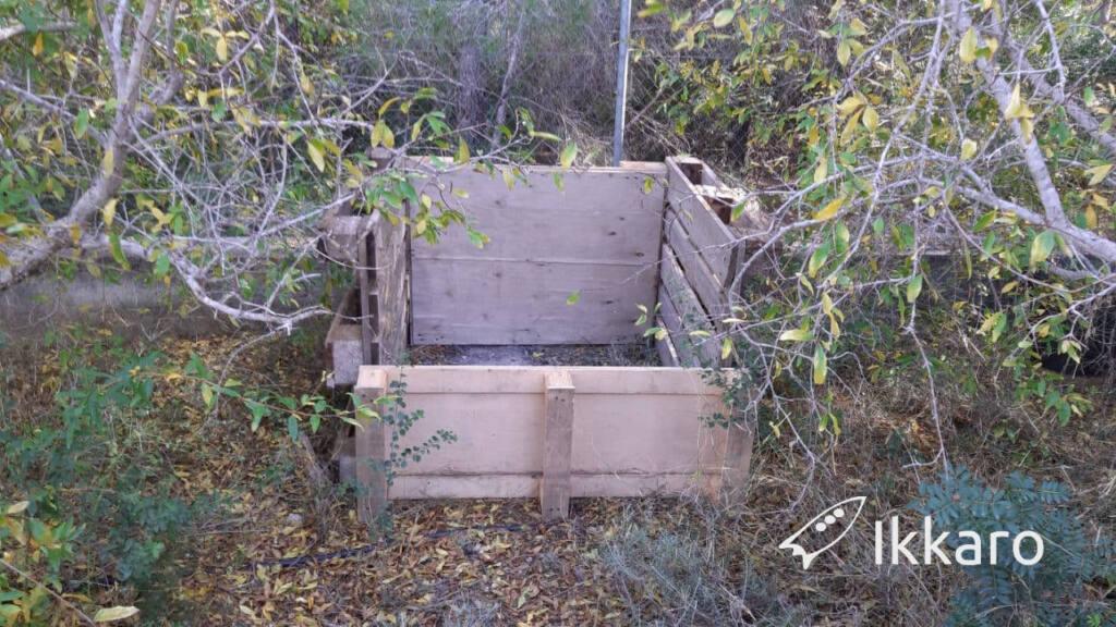 Como hacer un compostador o compostadora casero con palets