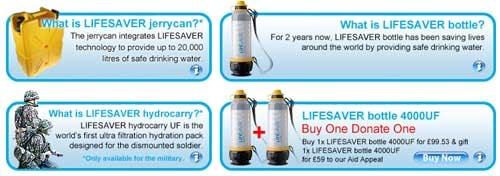 filtro de agua lifesaver